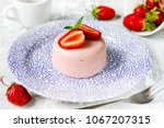 italian dessert panna cotta or... | Shutterstock . vector #1067207315