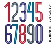 vector elegant tall numbers... | Shutterstock .eps vector #1067207699