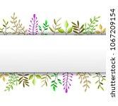 vector illustrator spring... | Shutterstock .eps vector #1067209154