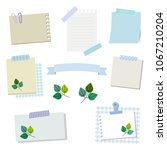 set of leaf and papers   vector ...   Shutterstock .eps vector #1067210204