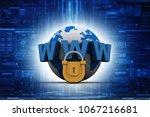 3d rendering padlock with www | Shutterstock . vector #1067216681