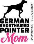 german shorthaired pointer mom... | Shutterstock .eps vector #1067218805