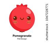 pomegranate flat icon | Shutterstock .eps vector #1067228771