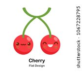 cherry flat icon | Shutterstock .eps vector #1067228795