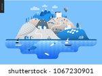 magical summer landscape  ... | Shutterstock .eps vector #1067230901