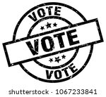 vote round grunge black stamp | Shutterstock .eps vector #1067233841