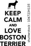 keep calm and love boston... | Shutterstock .eps vector #1067234135