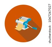 flat icon machine for cutting... | Shutterstock .eps vector #1067267027