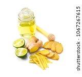 lemonade with lemon and ginger   Shutterstock . vector #1067267615