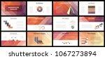 business presentation templates.... | Shutterstock .eps vector #1067273894