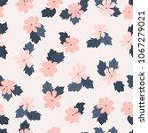 seamless folk pattern in small... | Shutterstock .eps vector #1067279021