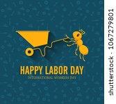illustration for labor day | Shutterstock .eps vector #1067279801