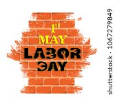 illustration for labor day | Shutterstock .eps vector #1067279849