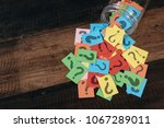 colorful paper with question... | Shutterstock . vector #1067289011