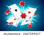 casino poker design template.... | Shutterstock .eps vector #1067295317