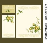 greeting cards with floral... | Shutterstock .eps vector #1067296175