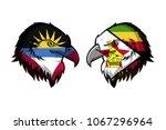 antigua ang barbuda vs zimbabwe | Shutterstock . vector #1067296964