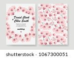 invitation to a wedding with... | Shutterstock .eps vector #1067300051