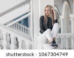 portrait of young beautiful... | Shutterstock . vector #1067304749