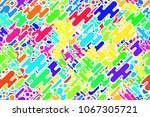 seamless repeating pink shapes... | Shutterstock . vector #1067305721