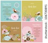set of lovely card templates... | Shutterstock .eps vector #106730891
