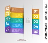 infographic timeline icon and... | Shutterstock .eps vector #1067310161