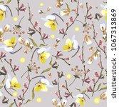 seamless elegant floral pattern ... | Shutterstock .eps vector #1067313869