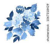watercolor floral composition.... | Shutterstock . vector #1067318429