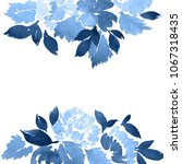 watercolor loose dahlia flowers ... | Shutterstock . vector #1067318435