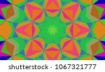 geometric design  mosaic of a... | Shutterstock .eps vector #1067321777