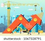 arrow stock trade graph of...   Shutterstock .eps vector #1067328791