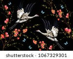 colorful floral seamless... | Shutterstock .eps vector #1067329301