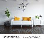 idea of a white scandinavian... | Shutterstock . vector #1067340614