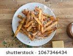 homemade truffle french fries... | Shutterstock . vector #1067346434