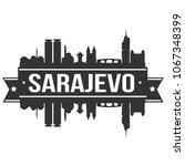 sarajevo bosnia herzegovina...   Shutterstock .eps vector #1067348399