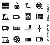 flat vector icon set  ... | Shutterstock .eps vector #1067353661