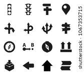 flat vector icon set   compass... | Shutterstock .eps vector #1067353715
