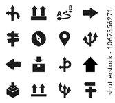 flat vector icon set   compass... | Shutterstock .eps vector #1067356271