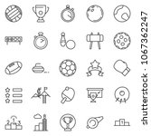 thin line icon set   success... | Shutterstock .eps vector #1067362247