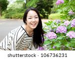 beautiful young woman in the... | Shutterstock . vector #106736231