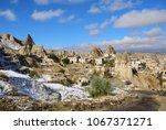 goreme after snowfall  district ... | Shutterstock . vector #1067371271