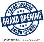 grand opening blue round grunge ... | Shutterstock .eps vector #1067376194