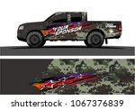 truck graphic. abstract lines...   Shutterstock .eps vector #1067376839