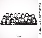 the crowd of abstract people.... | Shutterstock .eps vector #1067381984