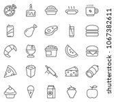 thin line icon set   sausage... | Shutterstock .eps vector #1067382611