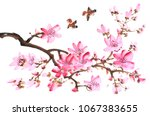 traditional chinese painting of ... | Shutterstock . vector #1067383655