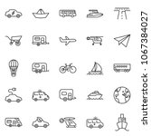 thin line icon set   paper... | Shutterstock .eps vector #1067384027