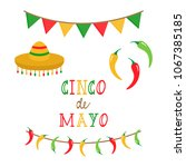cinco de mayo  mexican vector... | Shutterstock .eps vector #1067385185