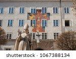 statue of st. rupert  patron... | Shutterstock . vector #1067388134
