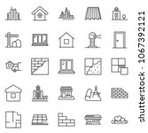 thin line icon set  ... | Shutterstock .eps vector #1067392121
